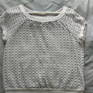 Lilac basket weave short sleeve top